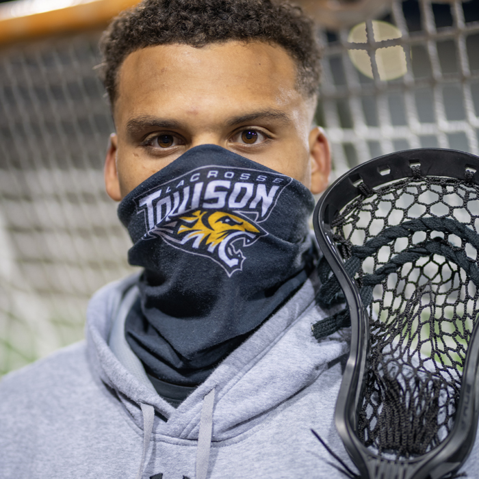 Koby Smith in a mask outdoors