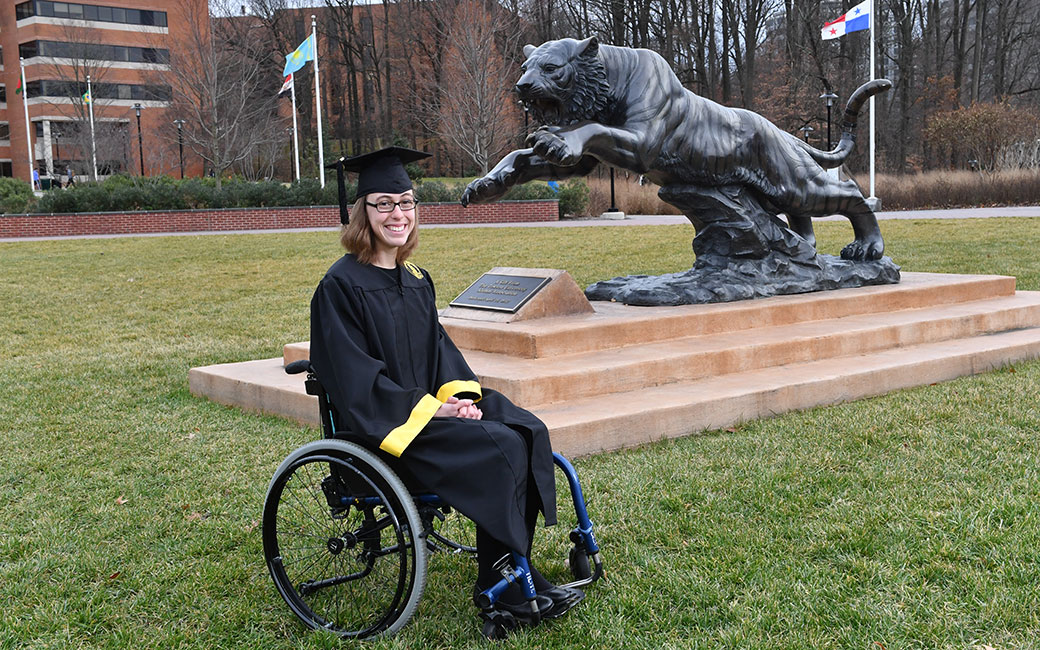 Carroll shares her experience attending college while navigating the obstacles of her disability.