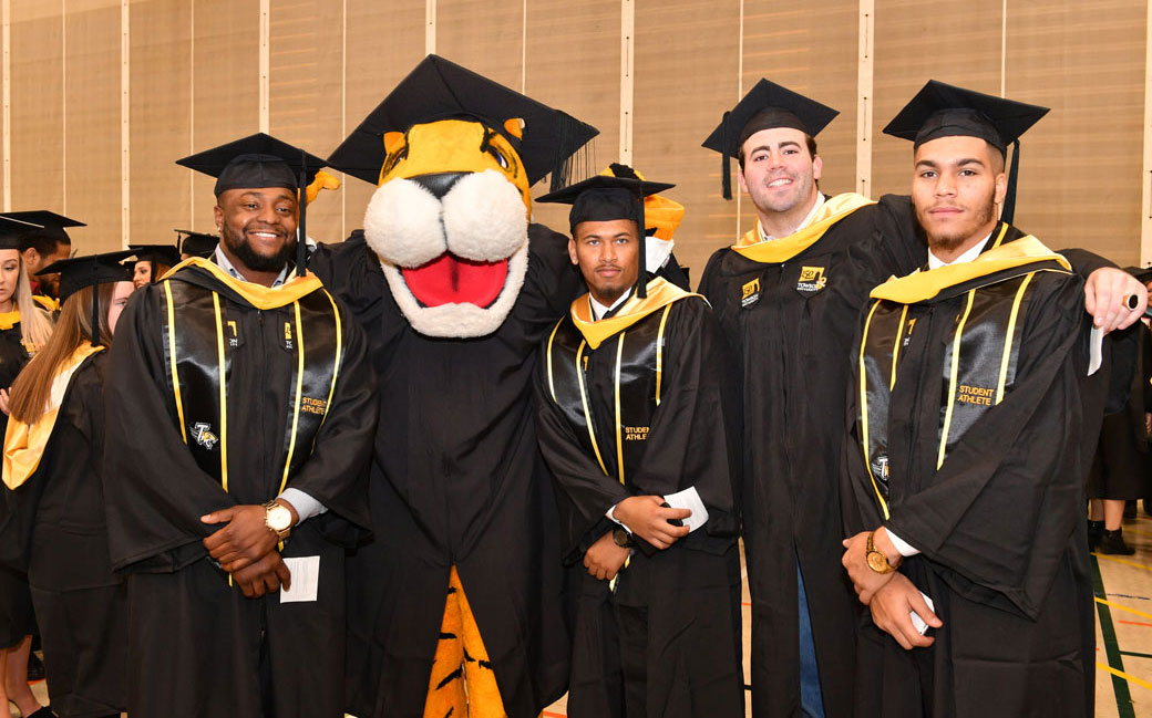 TU Athletics will graduate 70 student-athletes during the 2017 Spring Commencement Ceremony. This will include 23 students graduating with honors.
