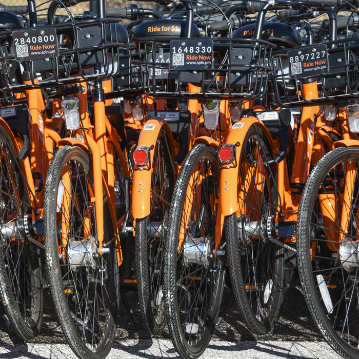 TU partners with SPIN bike share