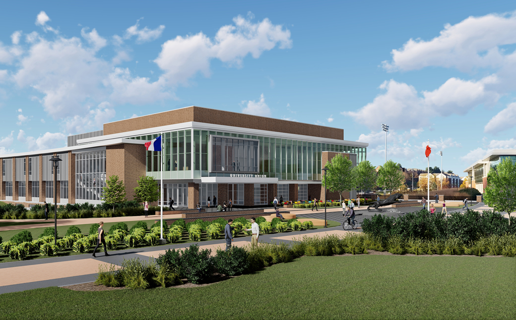 Artist's rendering of the new University Union