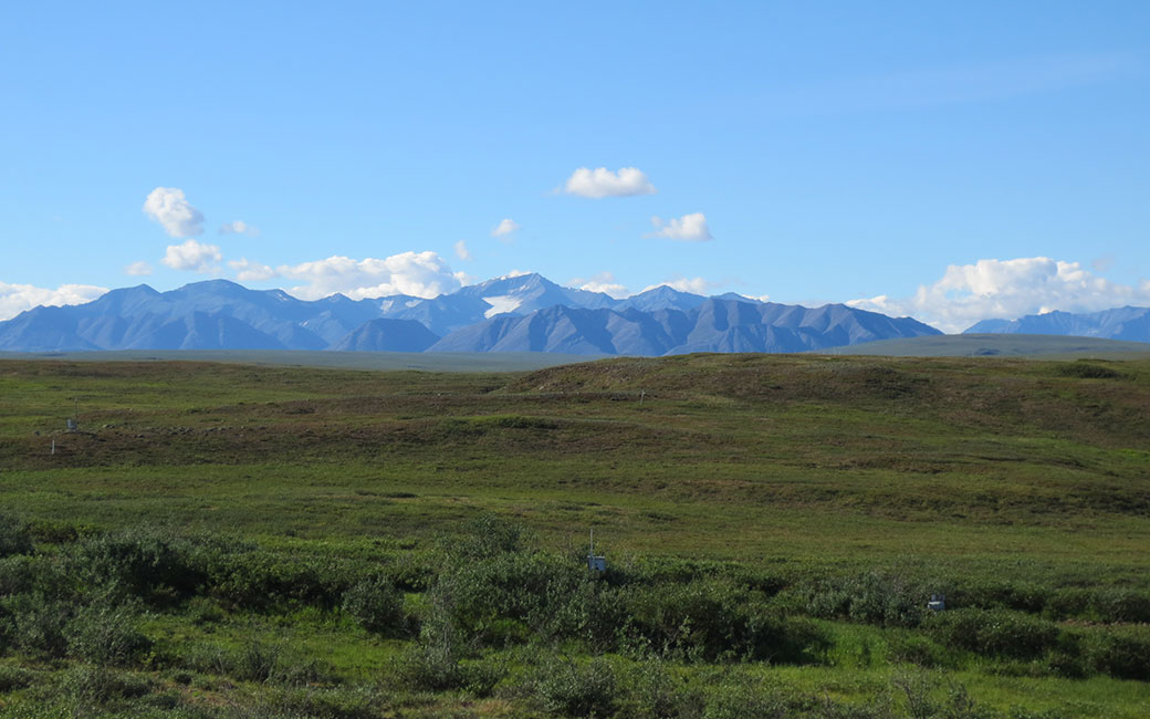 the Brooks Range (the northernmost extent of the Rocky Mountains) taken from Toolik Field Station, July 2017