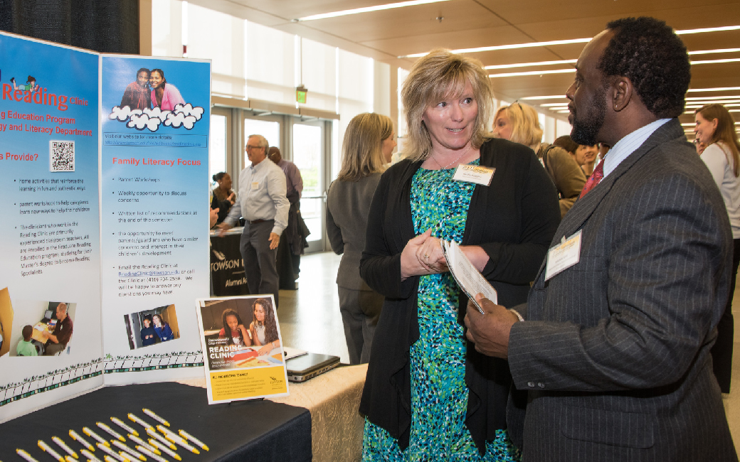 The BTU Partnerships Showcase is Towson University's largest annual event focused on developing and supporting partnerships. This year's event takes place on April 24 at SECU Arena