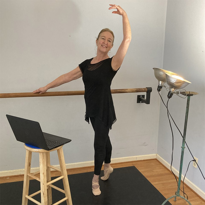 Dance instructor at home studio