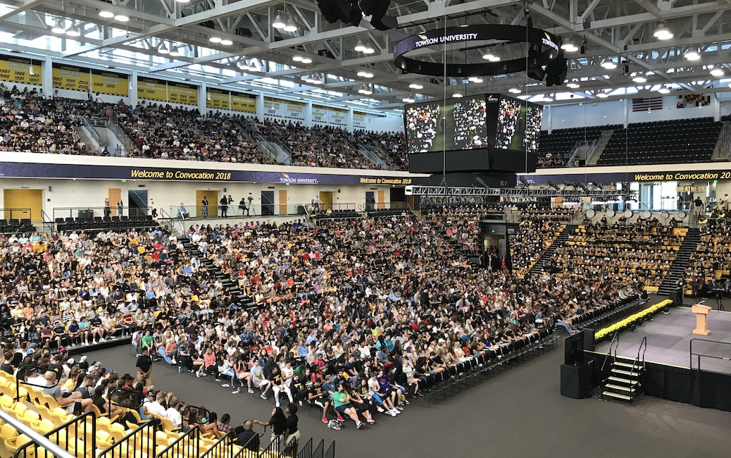 Convocation crowd at SECU Arena