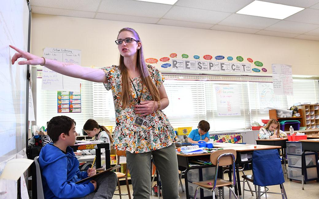 teacher intern Courtney Spangler