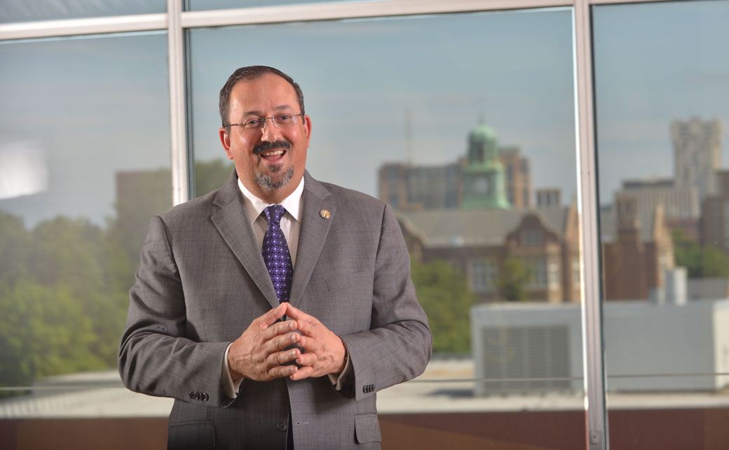 Daraius Irani, vice president of Towson University's Division of Innovation and Applied Research, will deliver the economic forecast at the Economic Outlook Forum on Thursday, Oct. 19 in West Village Commons.