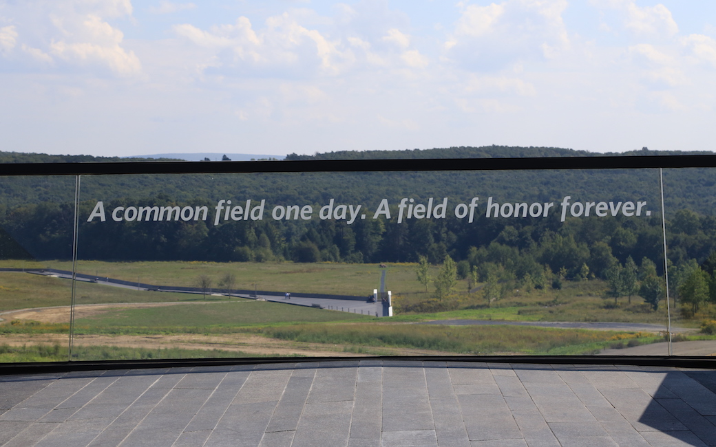 Looking out over the Flight 93 memorial in Shanksville, Pennsylvania.