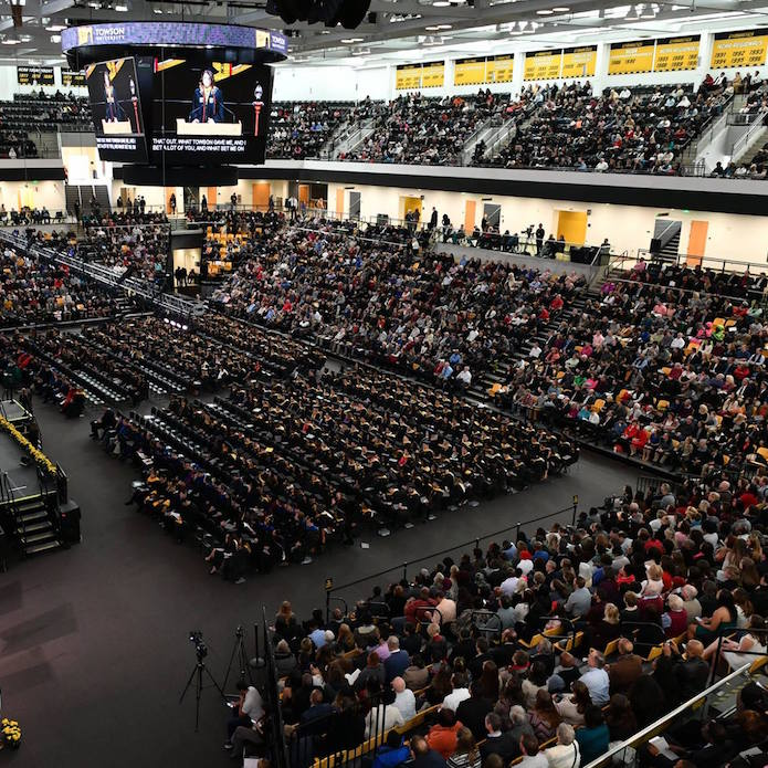 Commencement crowd in SECU