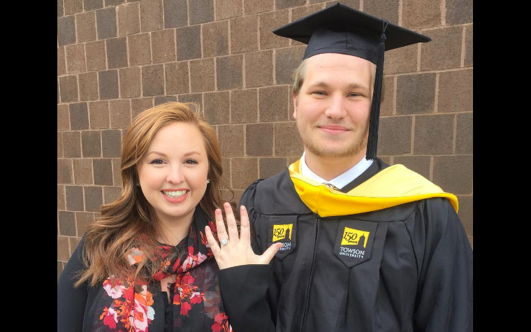 Engaged TU graduate and fiancee