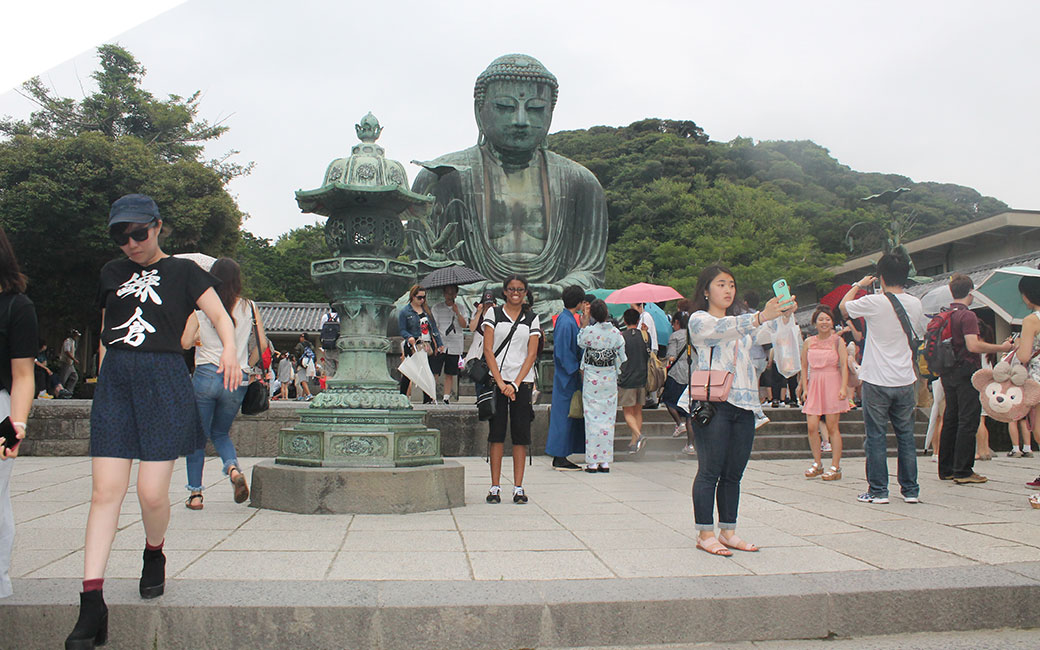 Jaime Smith at Great Daibutsu Mt. Bizan