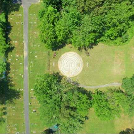 Google Earth shot of the labyrinth