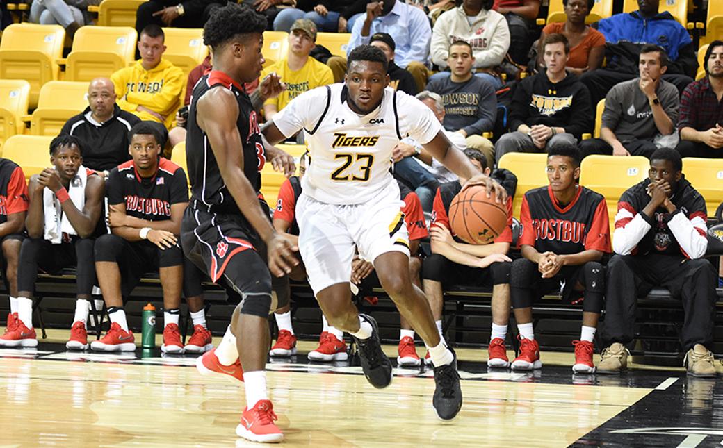 Towson University men's basketball senior Mike Morsell is averaging double-figures this season for the 6-1 Tigers. This weekend TU will travel to Belfast, Northern Ireland, to compete in the first Basketball Hall of Fame Belfast Classic.