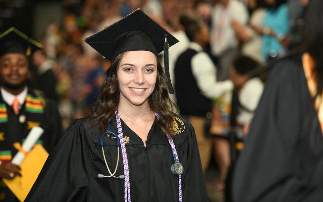 Graduate processing in SECU Arena