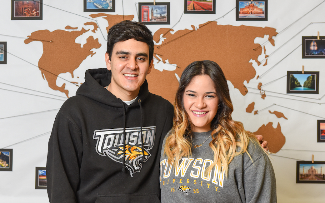 TU students Jesus and Dulce Salaverria, a brother and sister from Venezuela