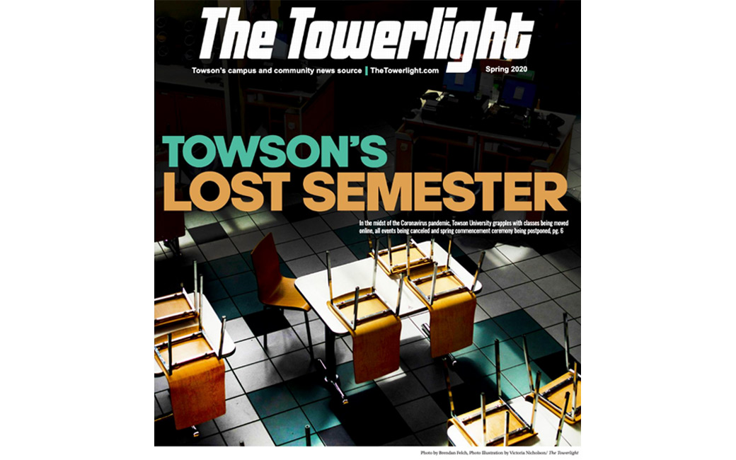 The cover of the final spring edition of the Towerlight