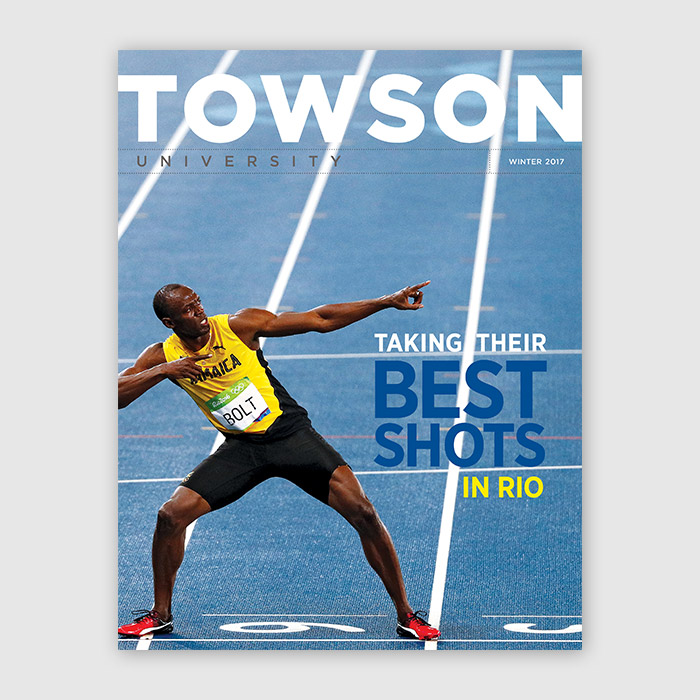 Cover of the Winter 2017 Towson Magazine