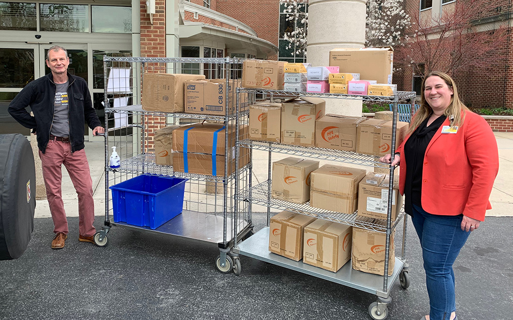 TU Biology professors deliver supplies to St. Joseph's Medical Center