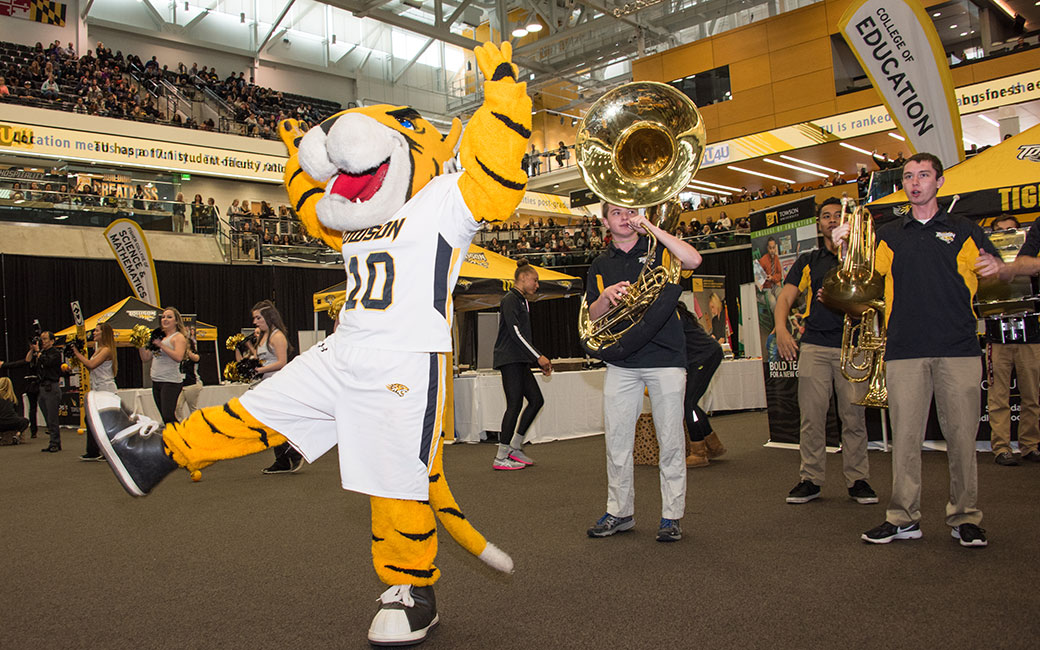 Excitement fills Towson University's SECU Arena for the annual TU4U admissions event. The 2018 version could be the biggest TU4U event ever.