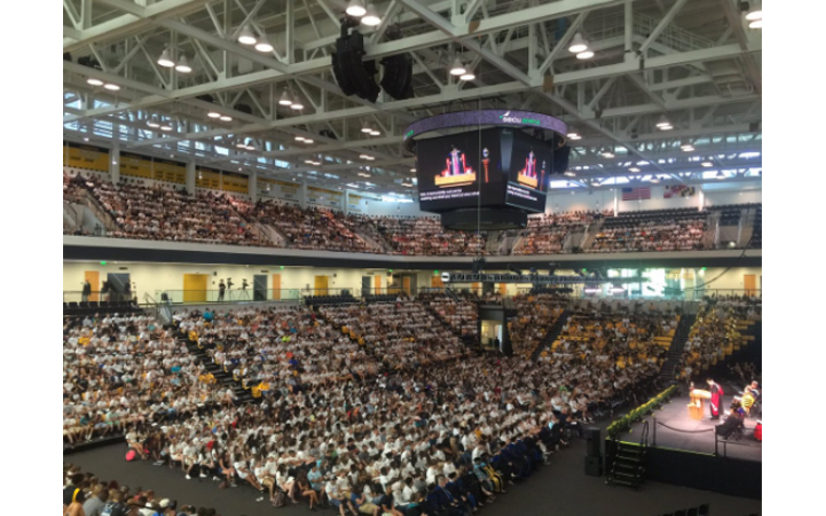 Packed SECU Arena for Convocation