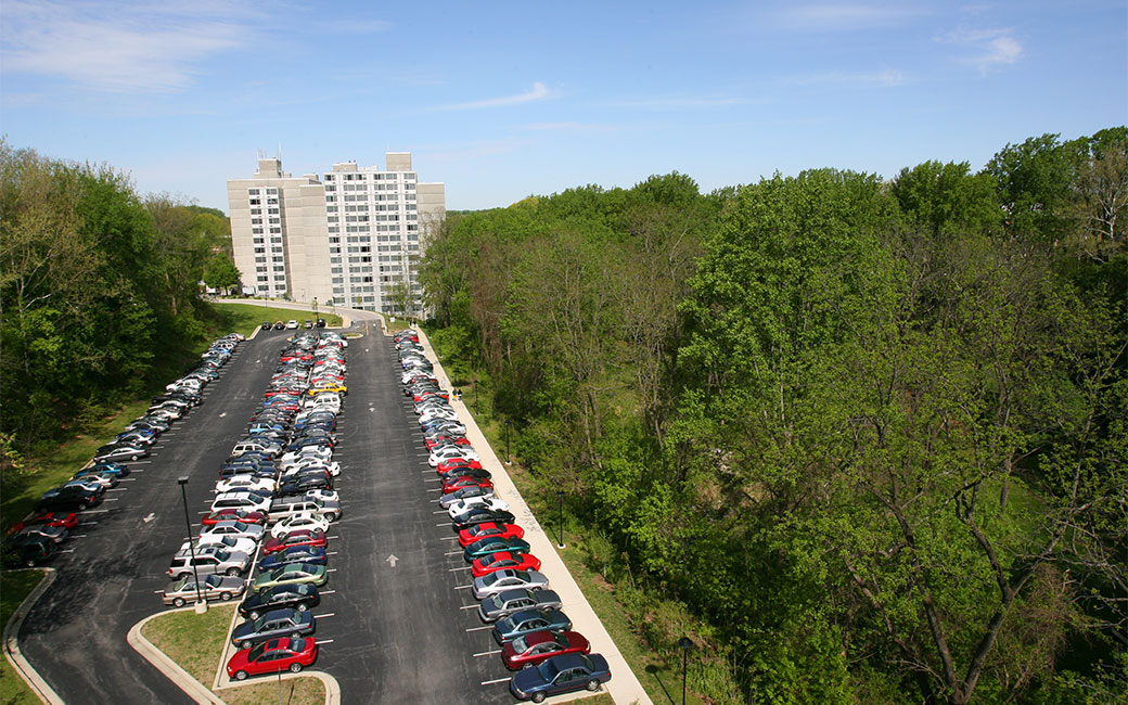 cars parked in lot 26 near Glen Towers