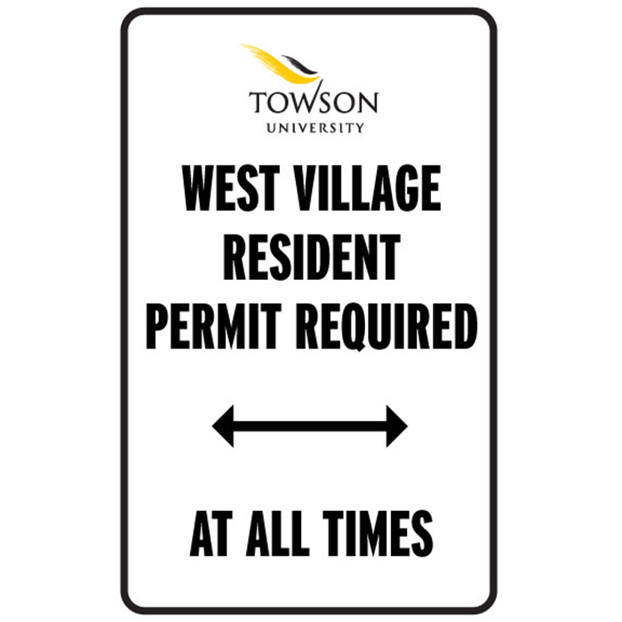 West Village resident permit required at all times.