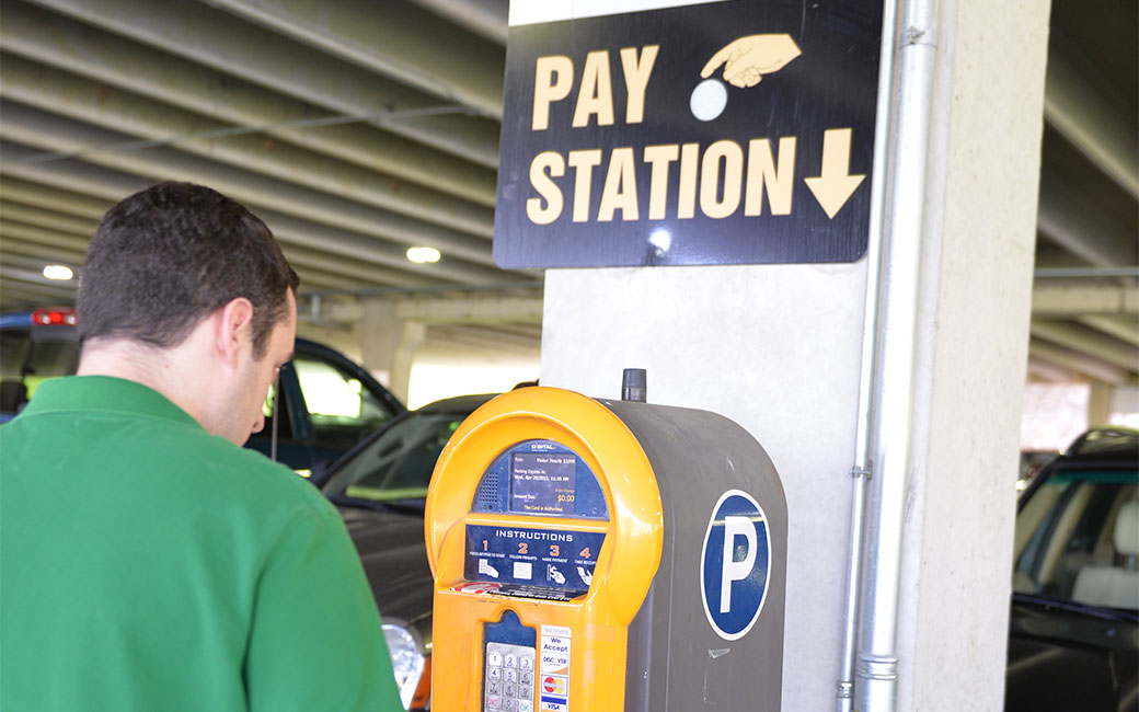 Visitor parking pay station