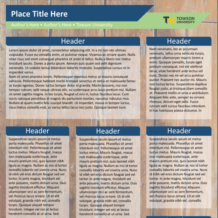 Image of Wood Poster PowerPoint Template