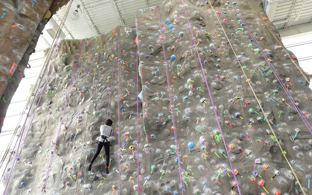 campus recreation climbing wall