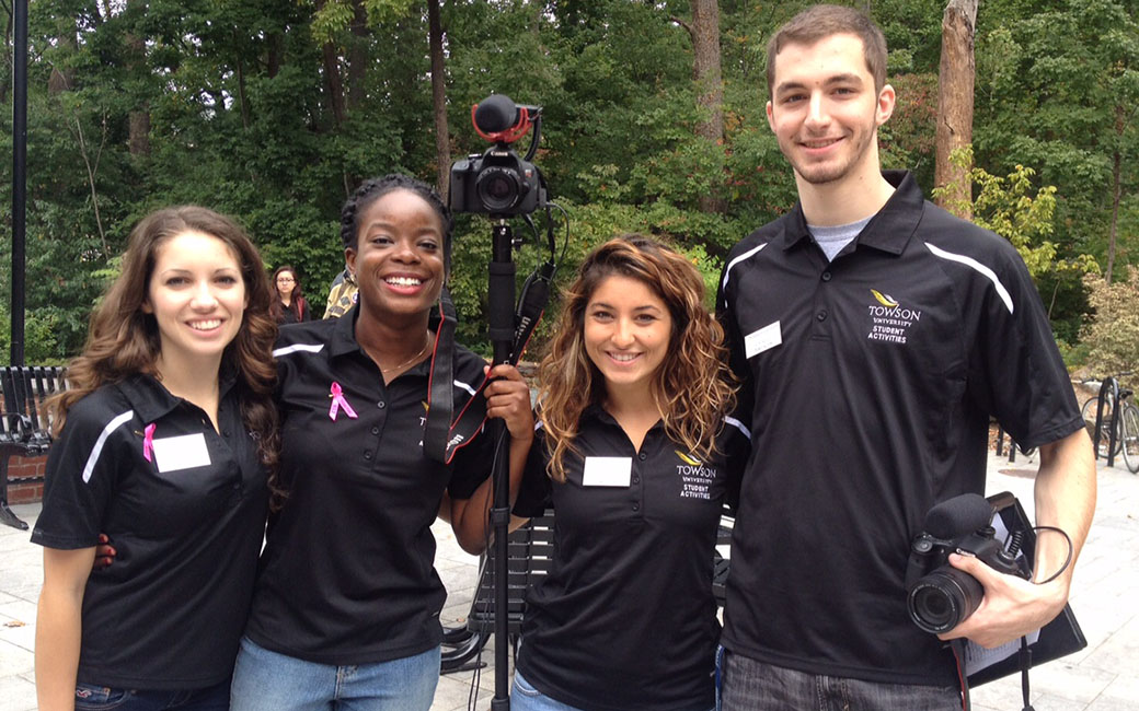 Our video team sets out to record an on campus event