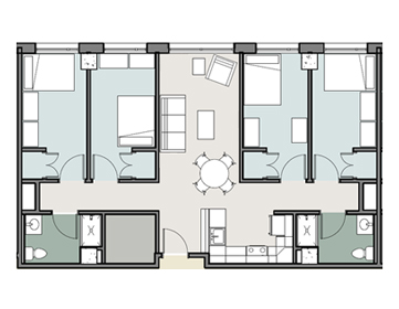 Towson Place Apartments Floor Plans