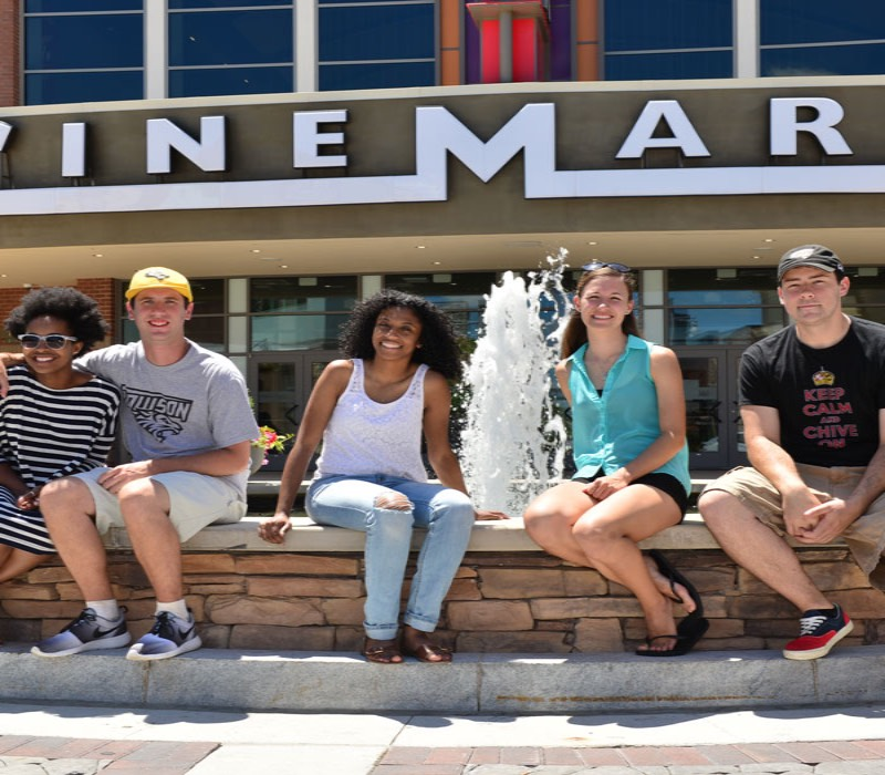 students at Cinemark movie theatre