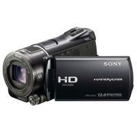 Front right view of Sony HDR-CX550 Video Camera