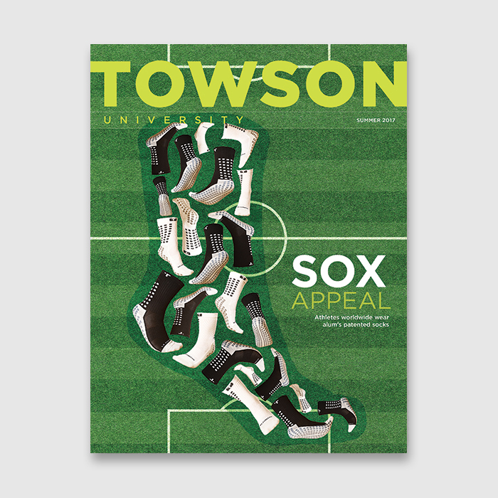 cover of Towson magazine summer 2017 issue